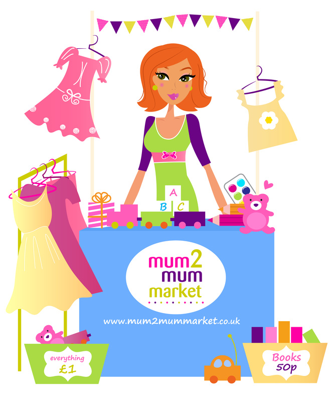 Logo: Mum2mum market baby and children's nearly new sales