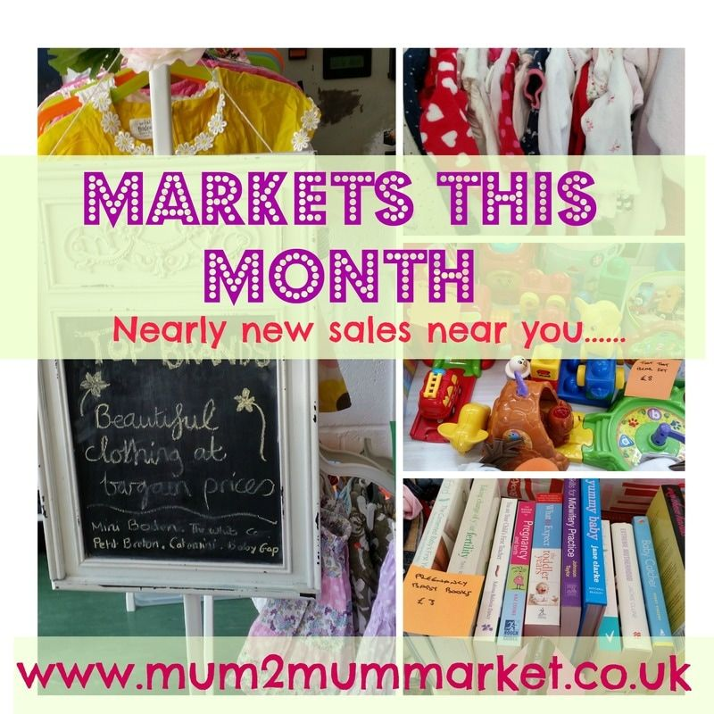 PictureBaby and kids market  NEARLY NEW SALES  Mum2mum markets- March 2017
